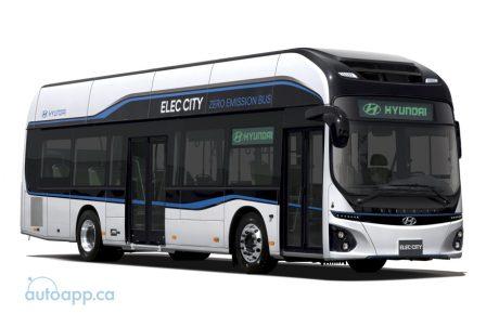 公車也吹綠能風 Hyundai發表具290公里續航力的電動巴士