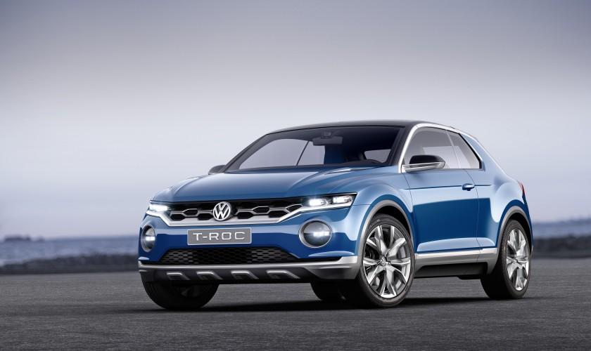 轉戰微型油電車領域 VW T-Roc最快7月亮相