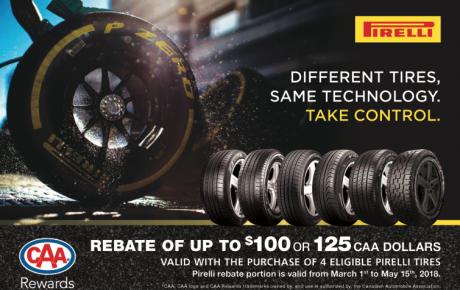 2018 春季輪胎回扣 – Pirelli